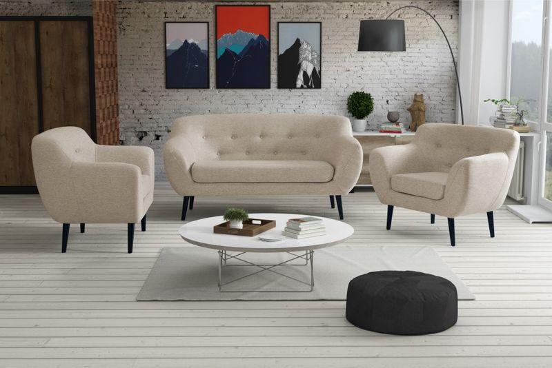 Sofa FINKA 3 PIK kanapa skandynawska vintage retro szara prl RIBES zdjęcie 8