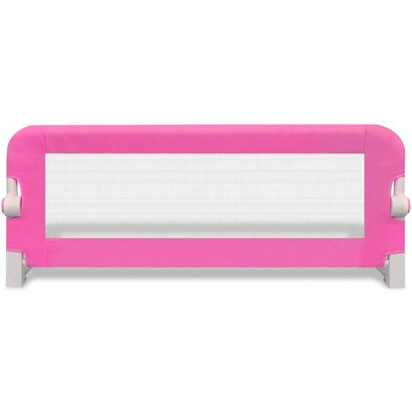 Barierka ochronna do łóżeczka 102 x 42 cm różowa zdjęcie 3