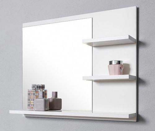 Białe lustro z 3 półkami prawe na Arena.pl