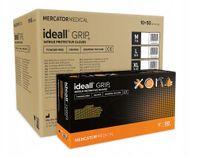 Rękawice nitrylowe ideall GRIP+ orange M karton 10 x 50 szt