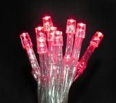 Lampki 10 LED na baterie - czerwony zdjęcie 14