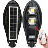 Lampa Solarna 100W LED Uliczna Latarnia Czujnikiem