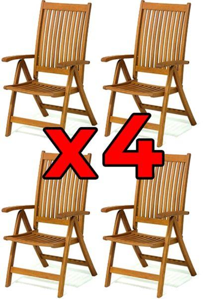 Krzesła Ogrodowe Składane Krzesło Z Drewna Na Taras Cardiff 4szt
