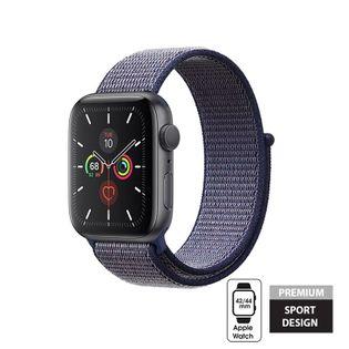 Crong Nylon Band - Pasek sportowy do Apple Watch 42/44 mm (Midnight Blue)