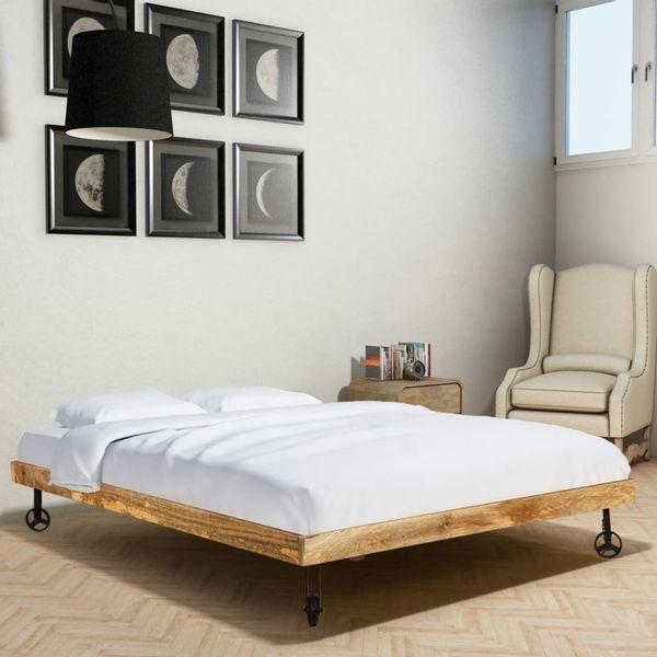łóżko Pódwjne Rama łóżka Drewniane 180x200 Do Sypialni Arenapl