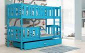 Łóżko piętrowe KUBUŚ 190x80 + szuflada + materace KOLORY