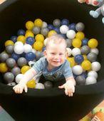 Suchy basen dla dzieci z piłeczkami 90x40 okrągły - czarny Kolor - czarny