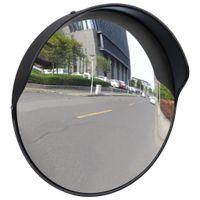 Wypukłe lustro drogowe 30cm czarne