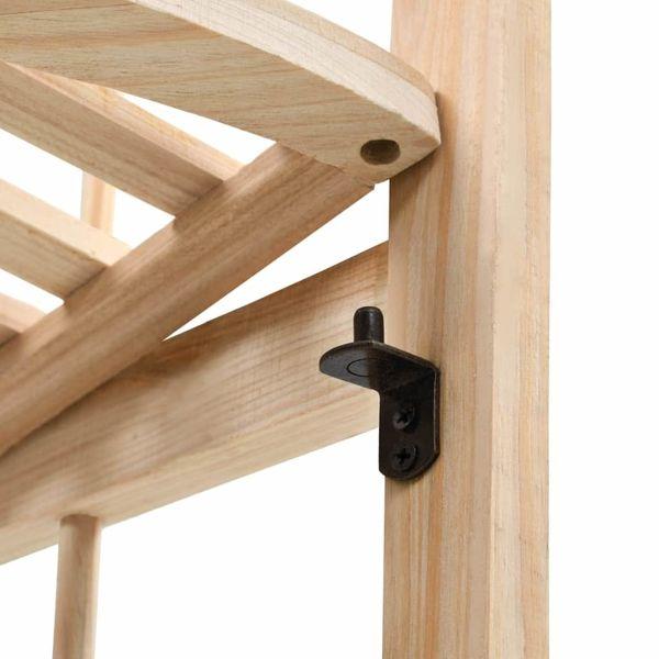 Regał Narożny Z Drewna Cedrowego, 27 X 27 X 110 Cm zdjęcie 5