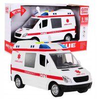 Karetka Ambulans 1:16 Światła Dźwięki
