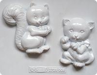 Forma do odlewów - Odlewy gipsowe - Wiewiórka i kot (2729006)