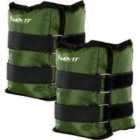 Zielone opaski obciążające na rzepy 2x2,5 kg MOVIT