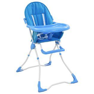 Krzesełko do karmienia niebiesko-białe