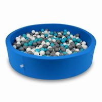 Suchy basen 130x30cm niebieski z piłeczkami 600szt (biały, szary, turkusowy)