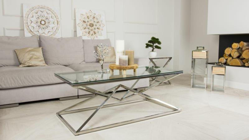 Stolik kawowy ława stół blat szkło hartowane zdjęcie 6