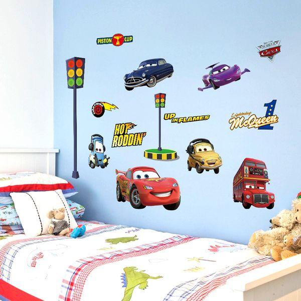 Naklejki Na ścianę ścienne Cars Auta Zygzak Złomek Ws 0170 Arenapl