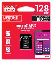 Karta pamięci GOODRAM microSDHC 128GB CL10 UHS I