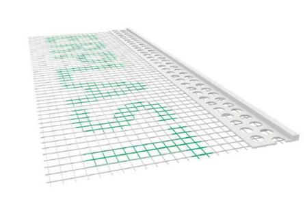 Listwa PCV zakończeniowa z siatką 100x6mm 2,5mb - pakiet 50szt.