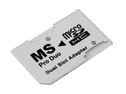 ADAPTER PLAYSTATION PORTABLE PSP DUAL MICRO SD / MS PRO DUO BIAŁY