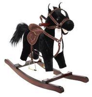 Koń Na Biegunach 74Cm/k9335 Czarno-Biały Kruzzel