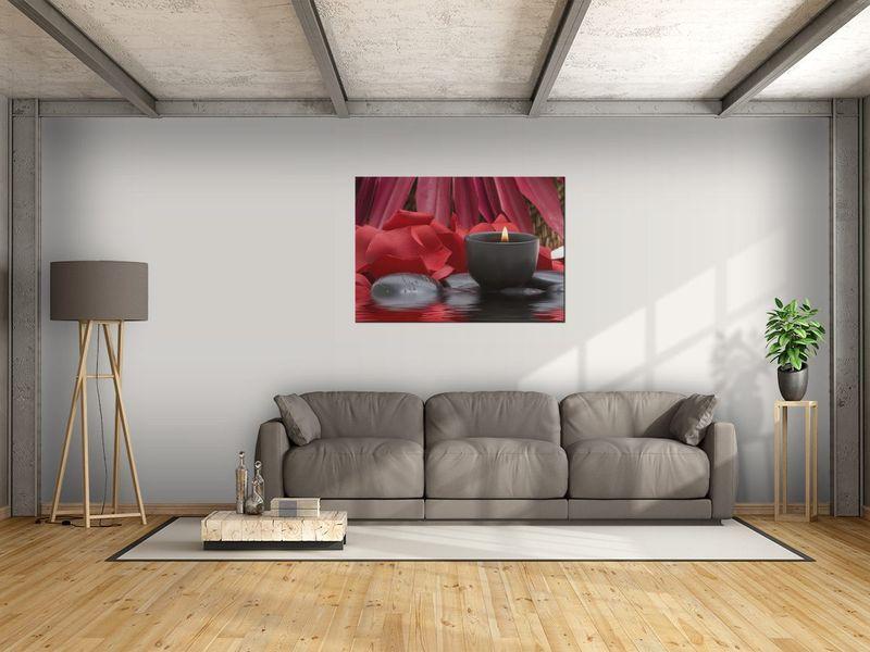Obraz Świecznik SPA 100x70 PŁÓTNO zdjęcie 1