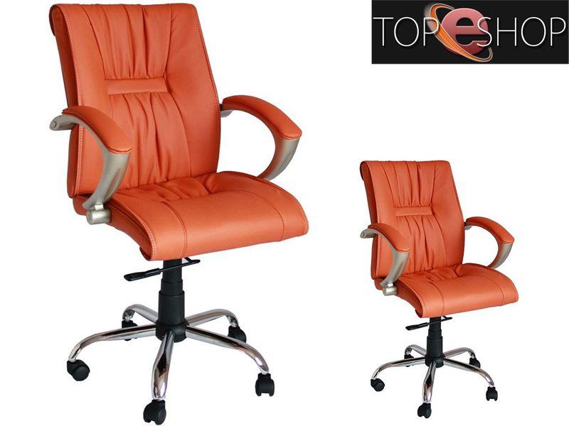 Fotel obrotowy krzesło biurowe skóra eko qzy 081 zdjęcie 1