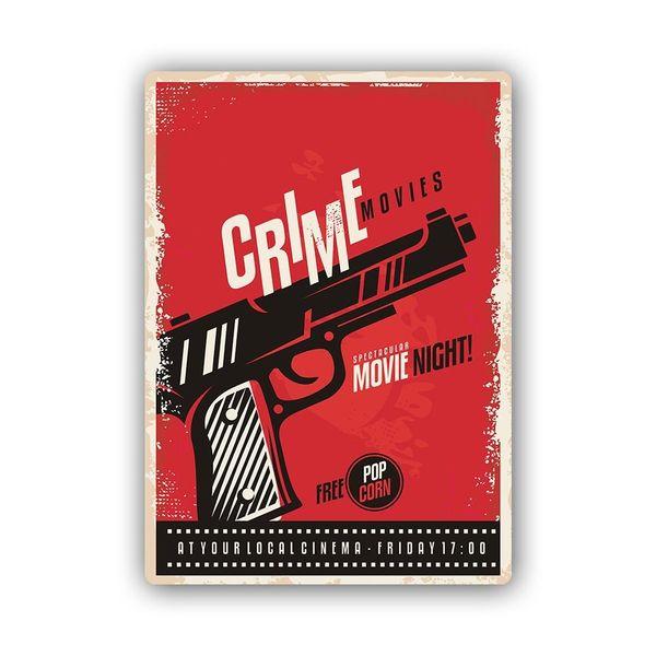 Wydruk na metalu, Retro – pistolet 40x60 zdjęcie 1