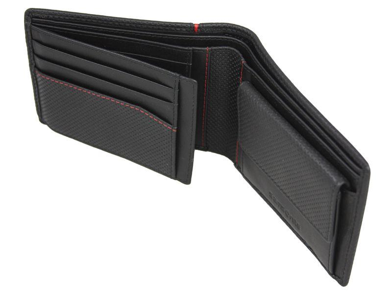 99f3cd818121e Poziomy skórzany portfel męski Samsonite RFID