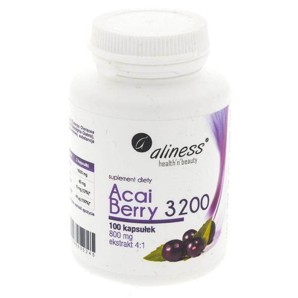Aliness Acai Berry 3200 - 100 kapsułek zdjęcie 4