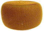 PUFA DO SALONU pufy kolory worek dziergana DUŻA SCANDI MUSZTARDA zdjęcie 1