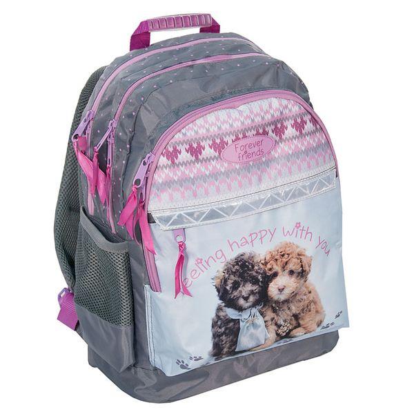 Plecak szkolny dla dziewczynki dwa pieski paso