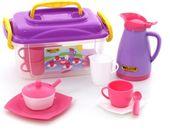 Wader zestaw naczyń do kawy w kuferku 20 el.różowy