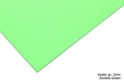 Kydex Zombie Green  - 200x300mm gr. 2mm