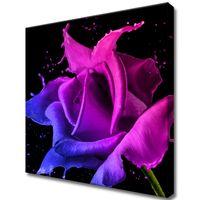 Obraz Na Ścianę 40X40 Róża Z Farb Abstrakcja Kolo