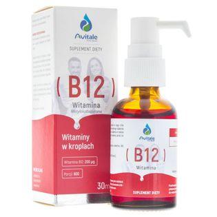 Avitale Witamina B12 200 µg w kroplach - 30 ml