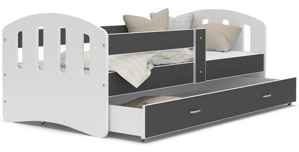 Łóżko HAPPY 180x90  szuflada + materac