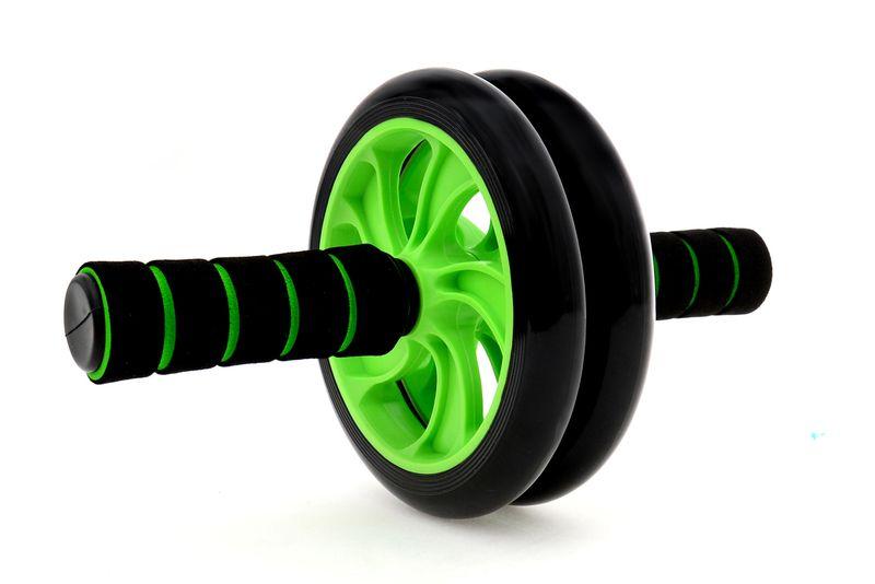 Podwójne Kółko do ćwiczeń roller zielony zdjęcie 1