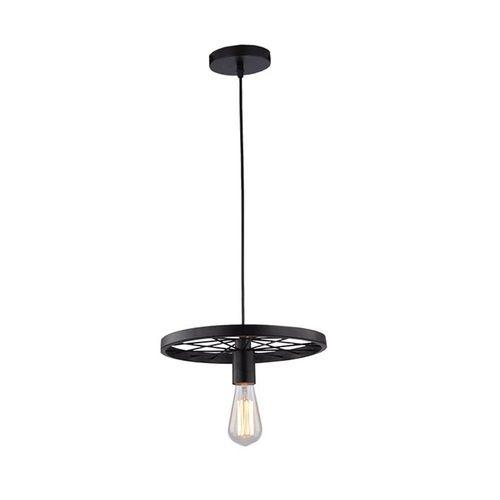 Lampa sufitowa żyrandol lampa led E27 czarna koło ULFN252 na Arena.pl