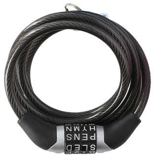 Dunlop - Zapięcie do roweru z szyfrem (Czarny)