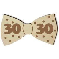 MUCHA z DREWNA na 30 urodziny prezent muszka HIT