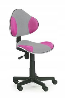 Fotel do biurka FLASH dla dziecka SZARO RÓŻÓWY