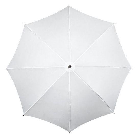 Bardzo duża parasolka ślubna XL w kolorze białym z czarną rączką zdjęcie 2