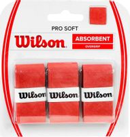Owijka Wilson Pro Soft Absorbent Overgrip czerwona 3szt WRZ4040OR