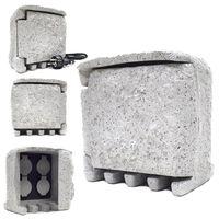 Gniazdko ogrodowe imitacja kamienia siwe