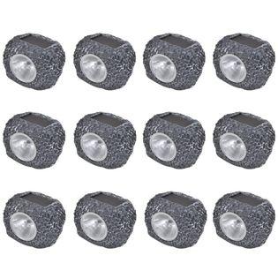 Kamienie ogrodowe LED x12