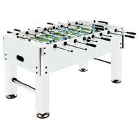 Lumarko Stół do gry w piłkarzyki, stal, 60 kg, 140x74,5x87,5 cm, biały!