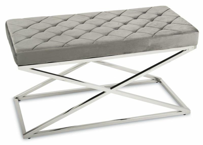 Pikowana pufa siedzisko ławeczka ławka Glamour zdjęcie 3