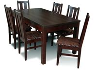Stół i krzesła, jadalnia, ciemne, salon, meble