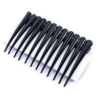 Ozdobne czarne spinki do włosów Tukan 12 sztuk