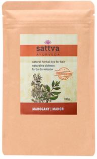 sattva naturalna ziołowa farba do włosów Mahoń